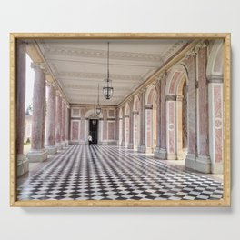 Pretty in Pink - The Grand Trianon at the Palace of Versailles Serving Tray