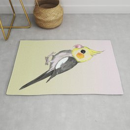 Very cute cockatiel Rug