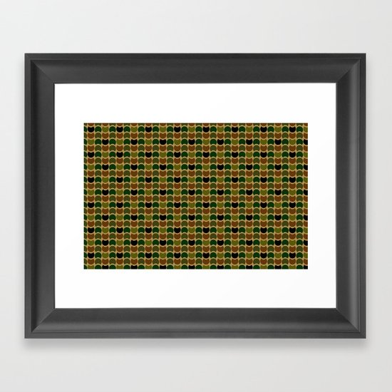 HobNob Camo Multi Framed Art Print