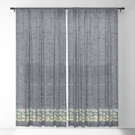 Frogs Sheer Curtain