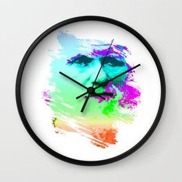 The Face Of Evolution Wall Clock