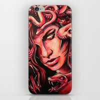 medusa iPhone & iPod Skins featuring Medusa by Justin sola