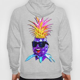 Pineapple Ultraviolet Happy Dude with Sunglasses Hoody