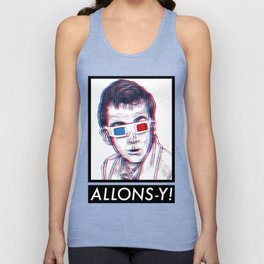 10th Doctor 3D Glasses Unisex Tank Top