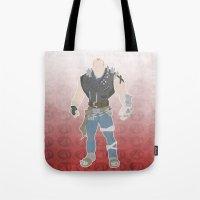borderlands Tote Bags featuring Borderlands 2 - Brick by LightningJinx