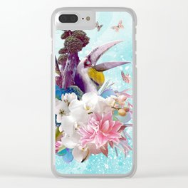 FLORAL HORNBILL / RIO Clear iPhone Case