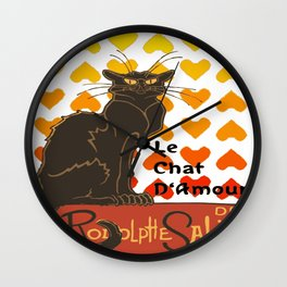 Le Chat Damour De Rodolphe Salis Valentine Cat Wall Clock