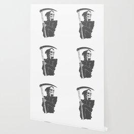 Grim reaper black and white Wallpaper
