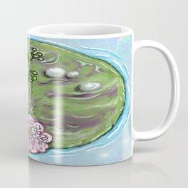 Frog Prince on His Lily Pad Coffee Mug