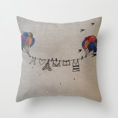 Clothes line |2 Throw Pillow