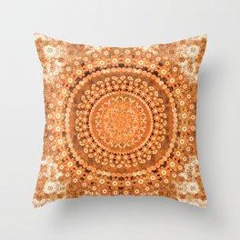 Boho Pumpkin Spice Mandala Throw Pillow