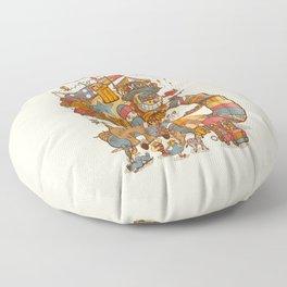 Circusbot Floor Pillow