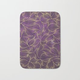 Tangles Violet and Gold Bath Mat