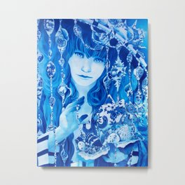 China Girl Metal Print