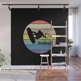 Wakeboarding Retro Wall Mural