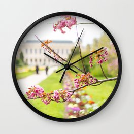 Paris In Springtime Wall Clock