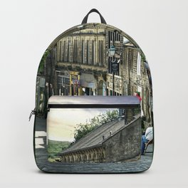 A Lazy Summer Evening in Haworth Portrait  Backpack