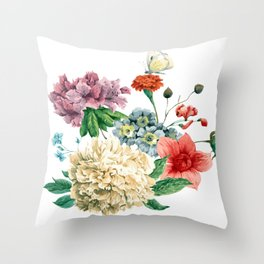 Beautiful BLUE, PINK AND ORANGE - Butterfly - Jersey Beauty Flower Throw Pillow
