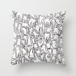 Full of Teeth III p Throw Pillow