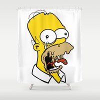 homer Shower Curtains featuring HOMER J. TRIPPIN by Mitch Meseke