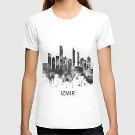 Izmir Turkey Skyline BW T-shirt