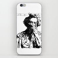 bon iver iPhone & iPod Skins featuring Bon Iver by Sara Pålsson