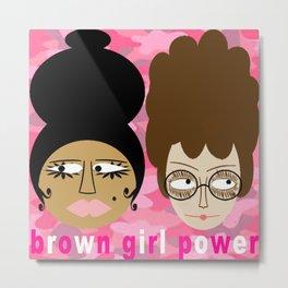 bbnyc brown girl power Metal Print