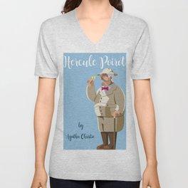 Agatha Christie's Hercule Poirot Unisex V-Neck