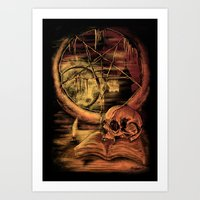 philosophy Art Prints featuring Philosophy by Cycoblast Artwork
