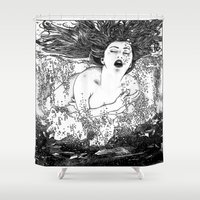 apollonia Shower Curtains featuring asc 512 - La noyade (The drowning) by From Apollonia with Love