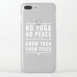 Yoga Breathing Hata Yama Asana Bikram Clear iPhone Case
