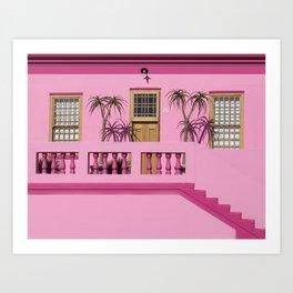Cape Malay pink house Art Print