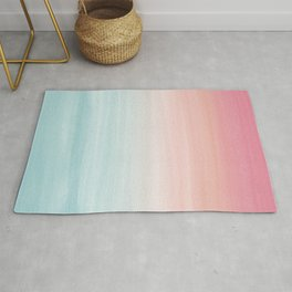 Touching Watercolor Abstract Beach Dream #1 #painting #decor #art #society6 Rug
