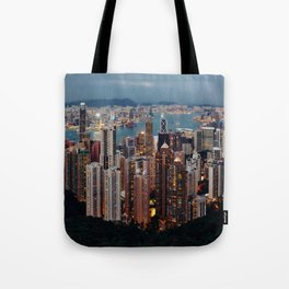 Rainbow Skyline Tote Bag