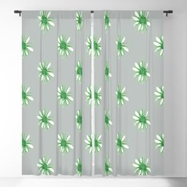 Daisies in Green Blackout Curtain