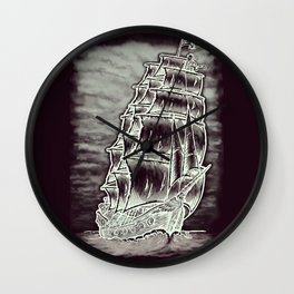 Caleuche Ghost Pirate Ship Variant Wall Clock