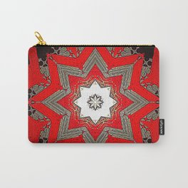 Silver red and black holiday star Carry-All Pouch