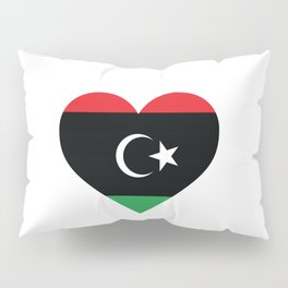 Libya  love flag heart designs  Pillow Sham