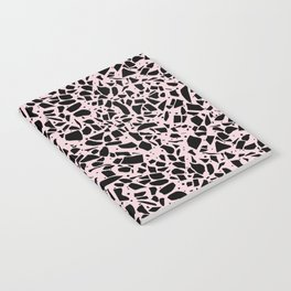 Terrazzo Spots Black on Blush Repeat Notebook