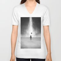feet V-neck T-shirts featuring Weightless by Samuel Gray