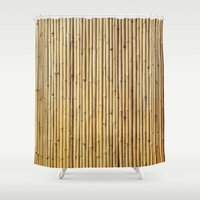 bamboo Shower Curtains featuring Bamboo by Patterns and Textures