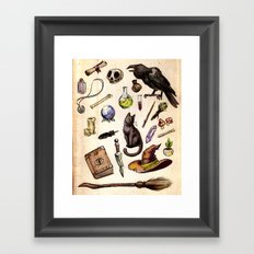 Witching Essentials Framed Art Print