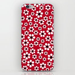 Dizzy Daisies - Red 2 - more colors iPhone Skin