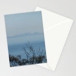 Melbourne on the horizon, from Arthur's Seat, Mornington Peninsula, Australia Stationery Cards