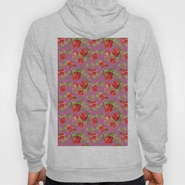 Rose pattern- pink Hoody