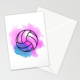 Volleyball Watercolor Stationery Cards