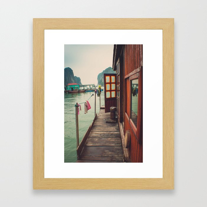 Fisherman's Backyard Framed Art Print