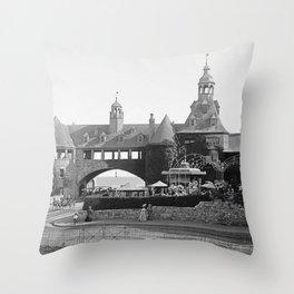 1890 Narragansett Towers & Casino, Narragansett, Rhode Island Throw Pillow