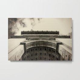 Arc de Triomphe. Paris, France Metal Print