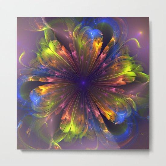 Dream flower, fantasy fractal abstract Metal Print